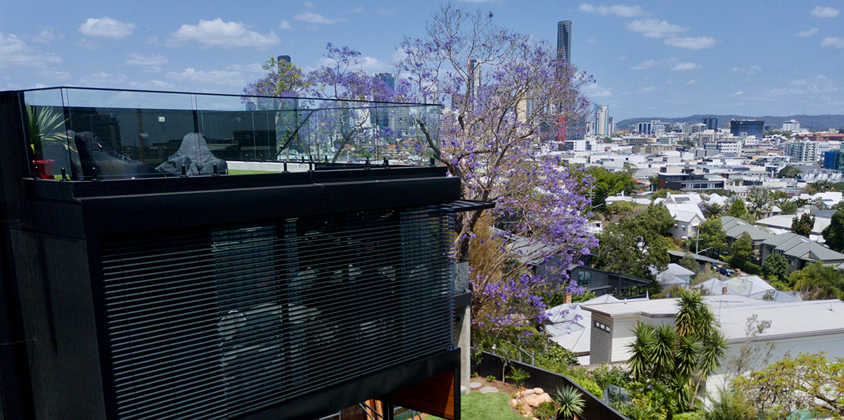Architectural home in Brisbane with Vental Blinds