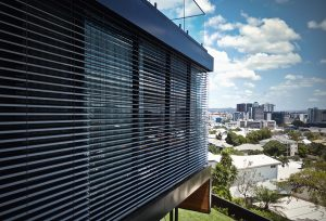 Vental Blinds on an architectural home