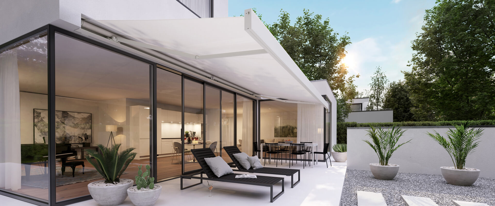 Markilux Brisbane by Dove Industry - Image features folding arm awning