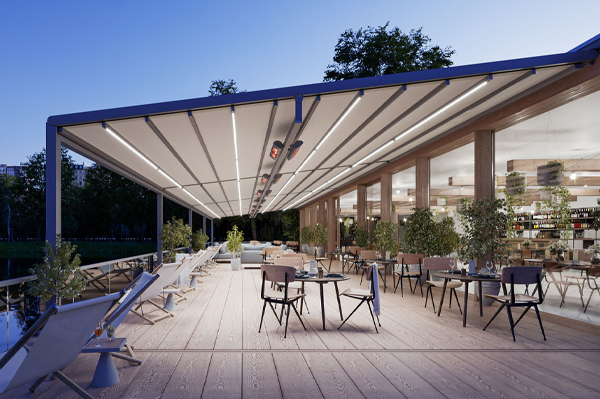 Retracable roof - markilux Brisbane by Dove Industry
